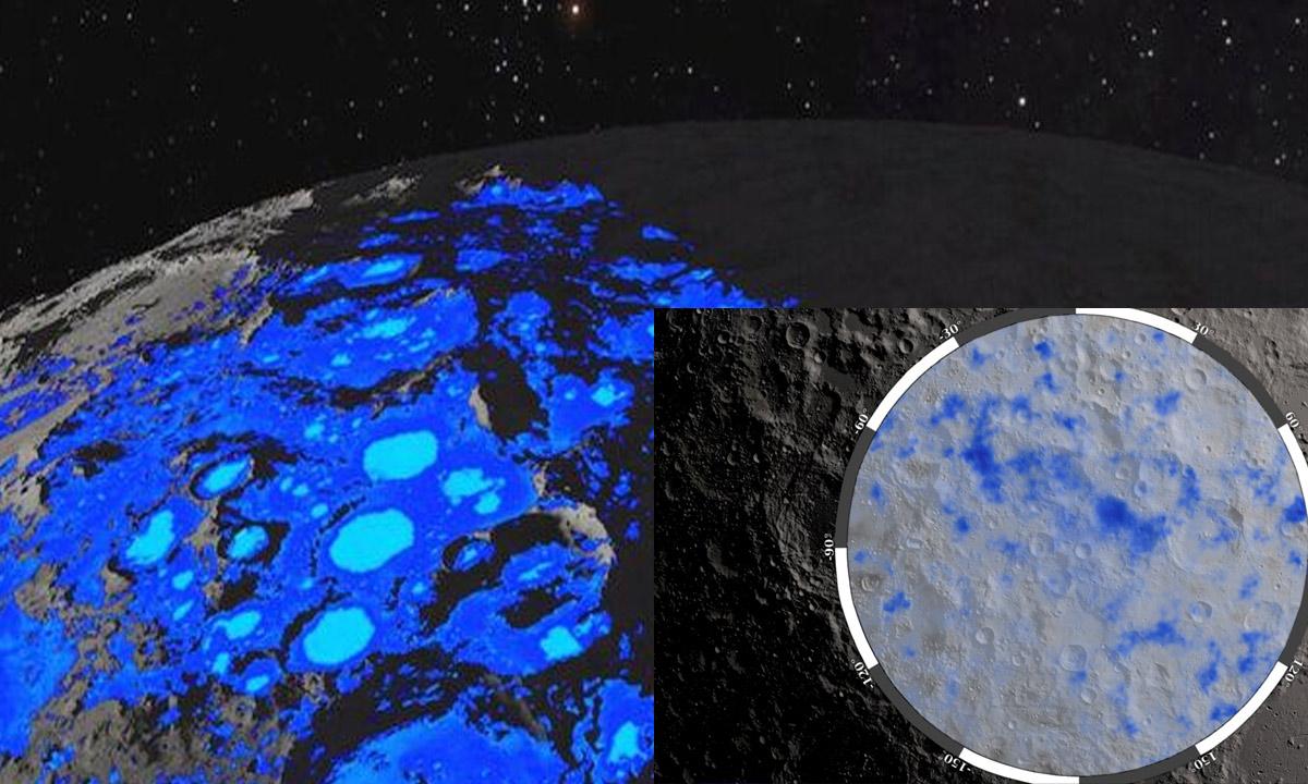 A NASA anunciou esta segunda-feira a descoberta  de água na parte iluminada da Lua