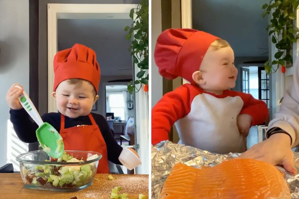 'Bebê chef' vira estrela culinária e tem mais de 1 milhão de seguidores