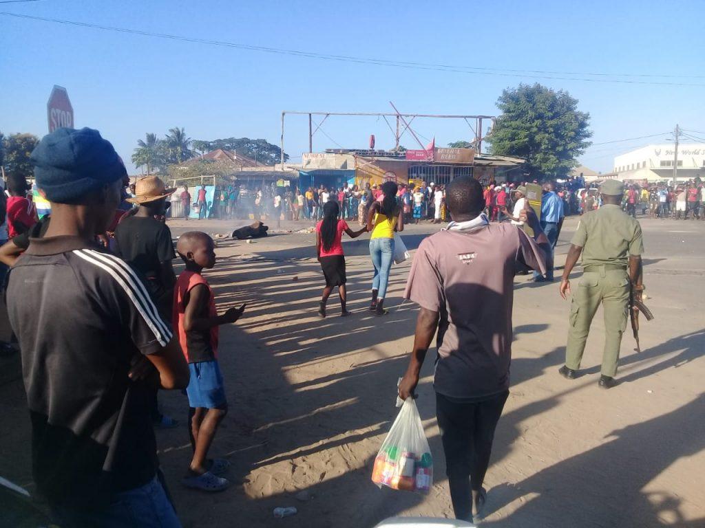 Confronto entre autoridades municipais e ambulantes resulta em óbito em Massinga