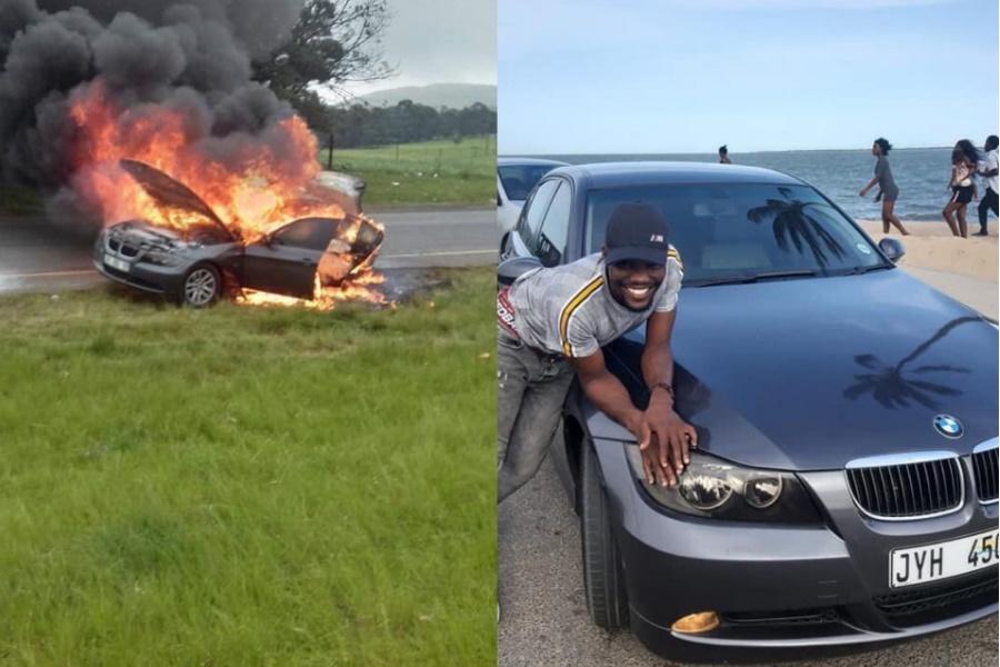 BMW de Refila Boy em chamas