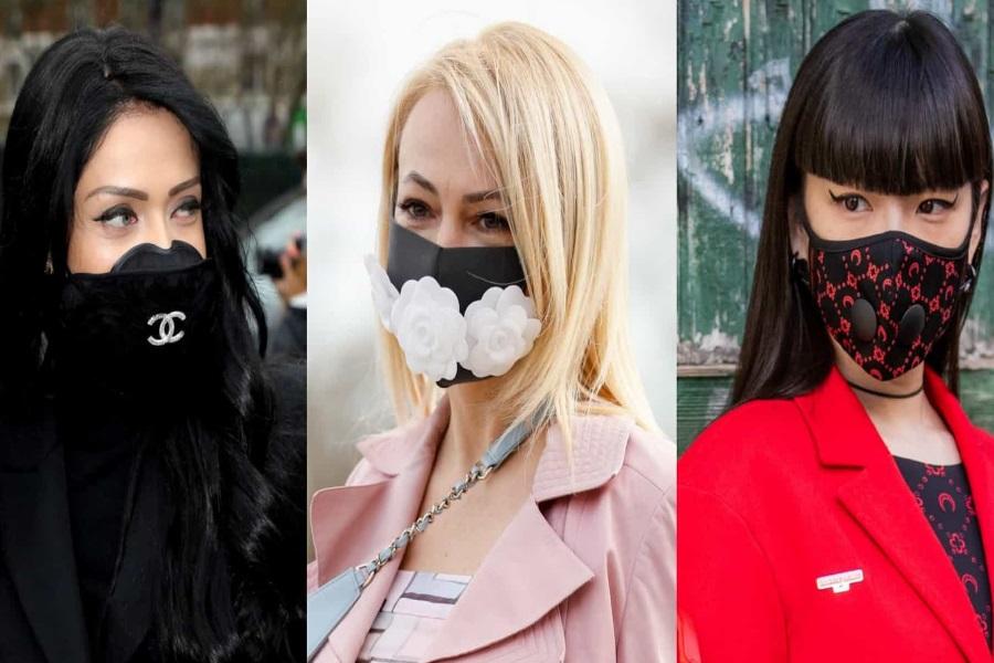 Máscara como acessório de moda
