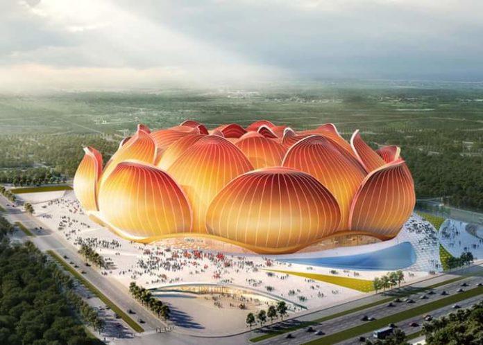 Em construção o maior estádio de futebol da China