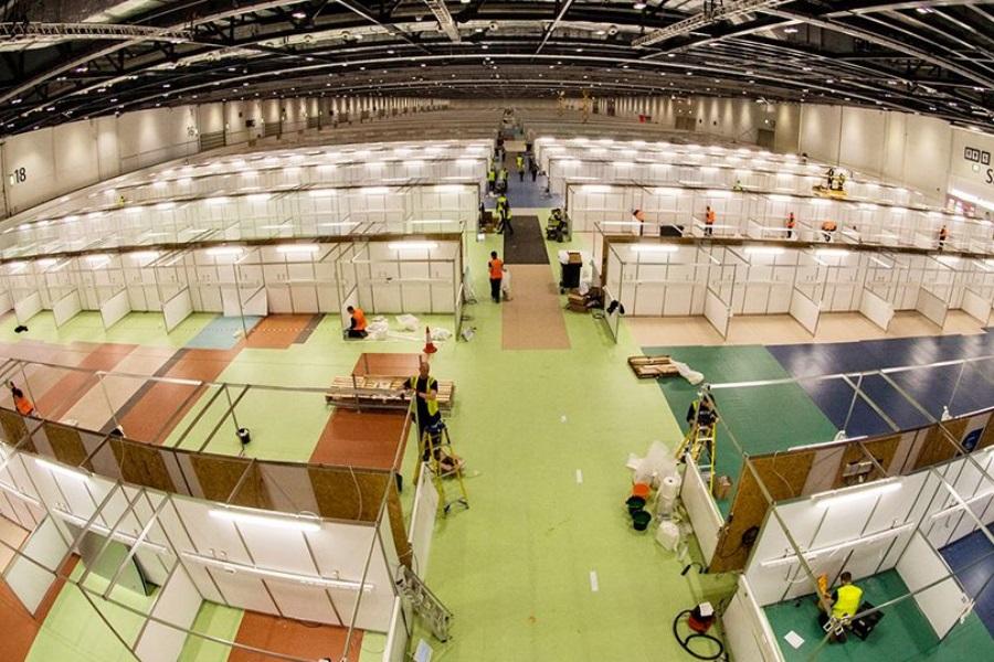 Coronavírus: Construído novo hospital em nove dias