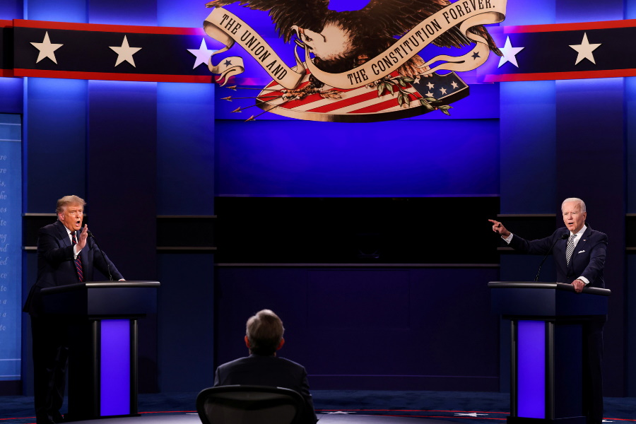 O debate final entre Trump e Biden