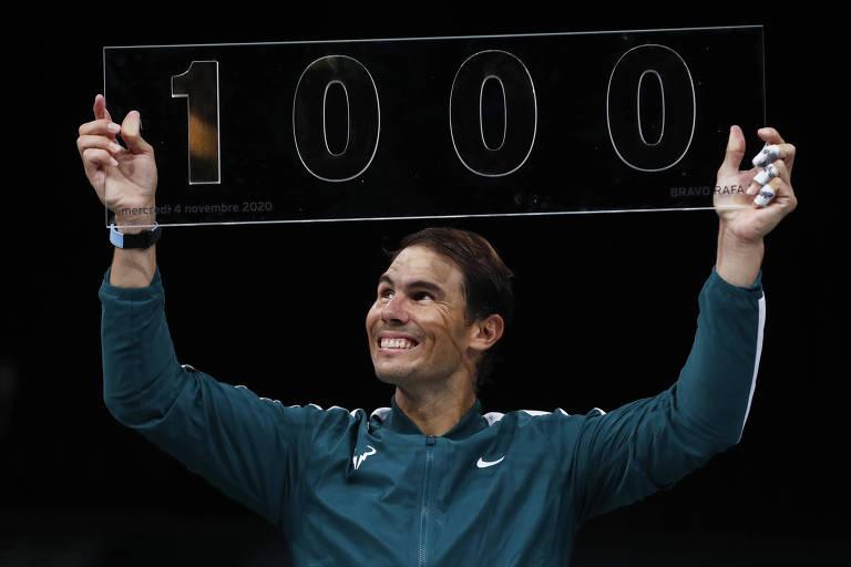 Rafael Nadal chega à vitória de número mil da carreira