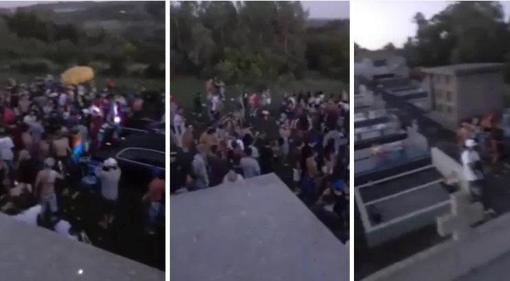 Festa clandestina no cemitério  com mais de 150 pessoas