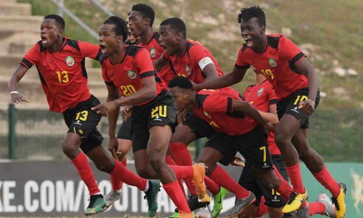 A seleção moçambicana de futebol de sub-20 empatou