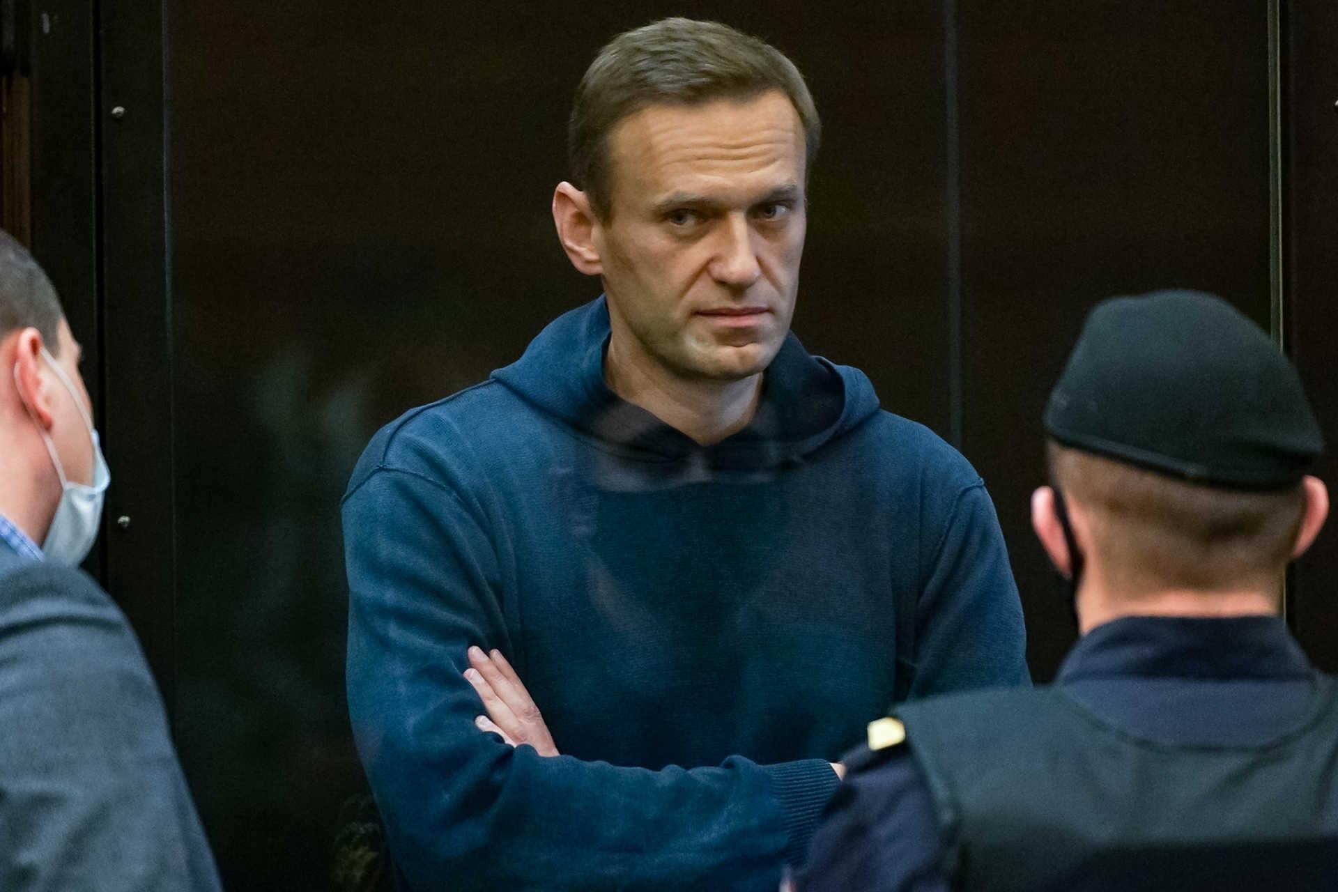 """Navalny disse que o Presidente russo, Vladimir Putin, """"passará à história como envenenador""""."""