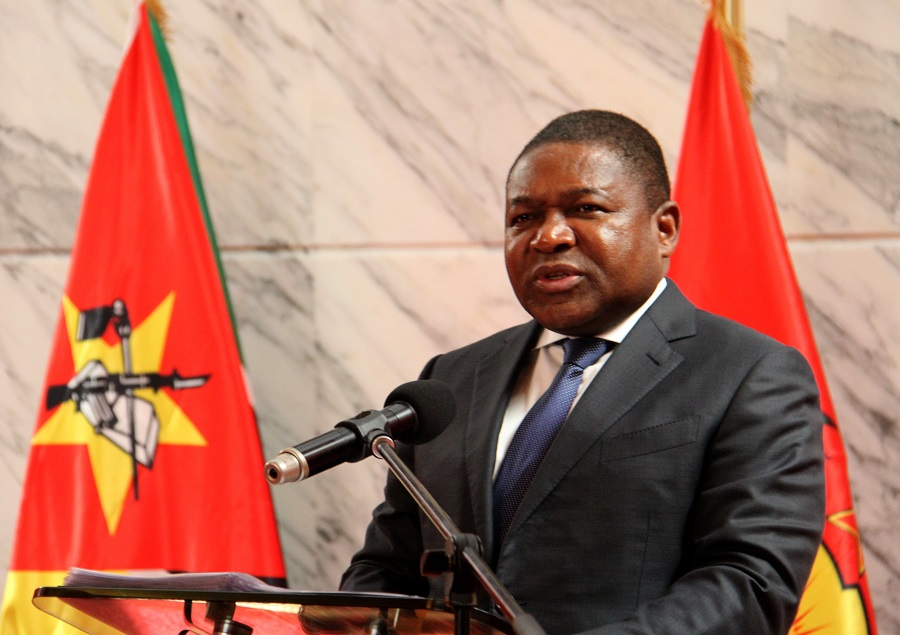 """""""A pandemia de covid-19 é um verdadeiro flagelo, sem precedentes, e Moçambique vive uma situação grave"""", declarou Filipe Nyusi."""