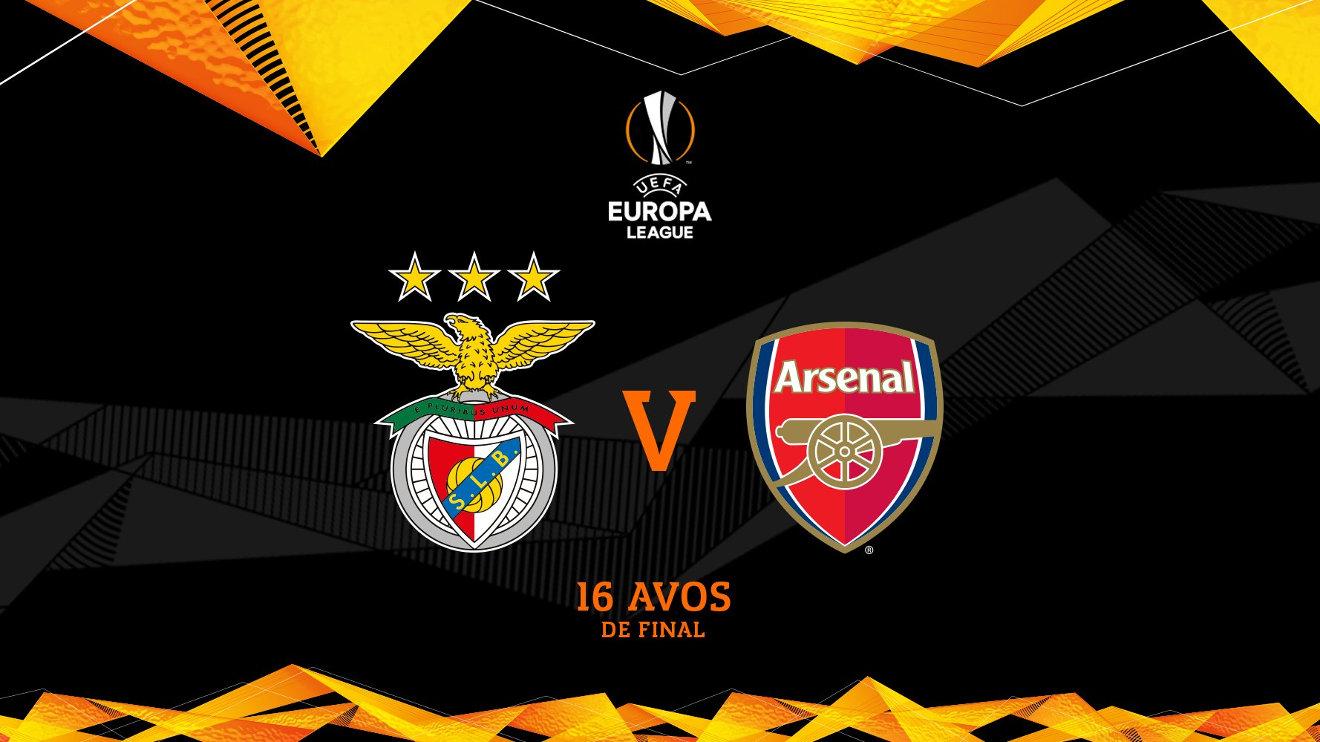 Benfica recebe Arsenal em Roma, para a Liga Europa