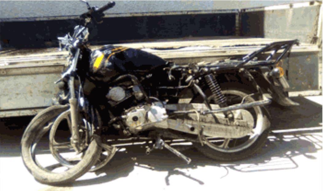Um condutor de veículos na cidade da Beira, atropela um motociclista e arrastá-lo  por mais de um quilómetro