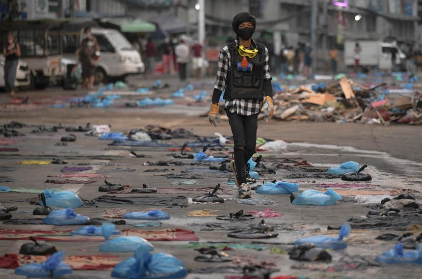 Junta declara lei marcial em duas áreas de Rangum, após 18 mortos em confrontos