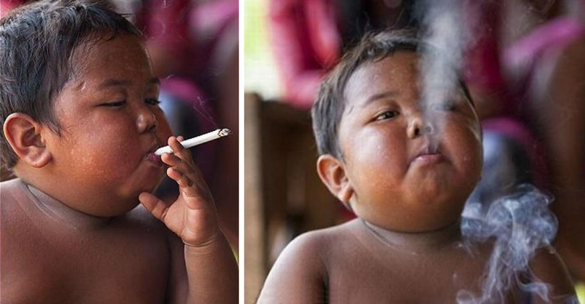 O que aconteceu a Ardi, a criança que fumava 40 cigarros por dia aos dois anos de idade?