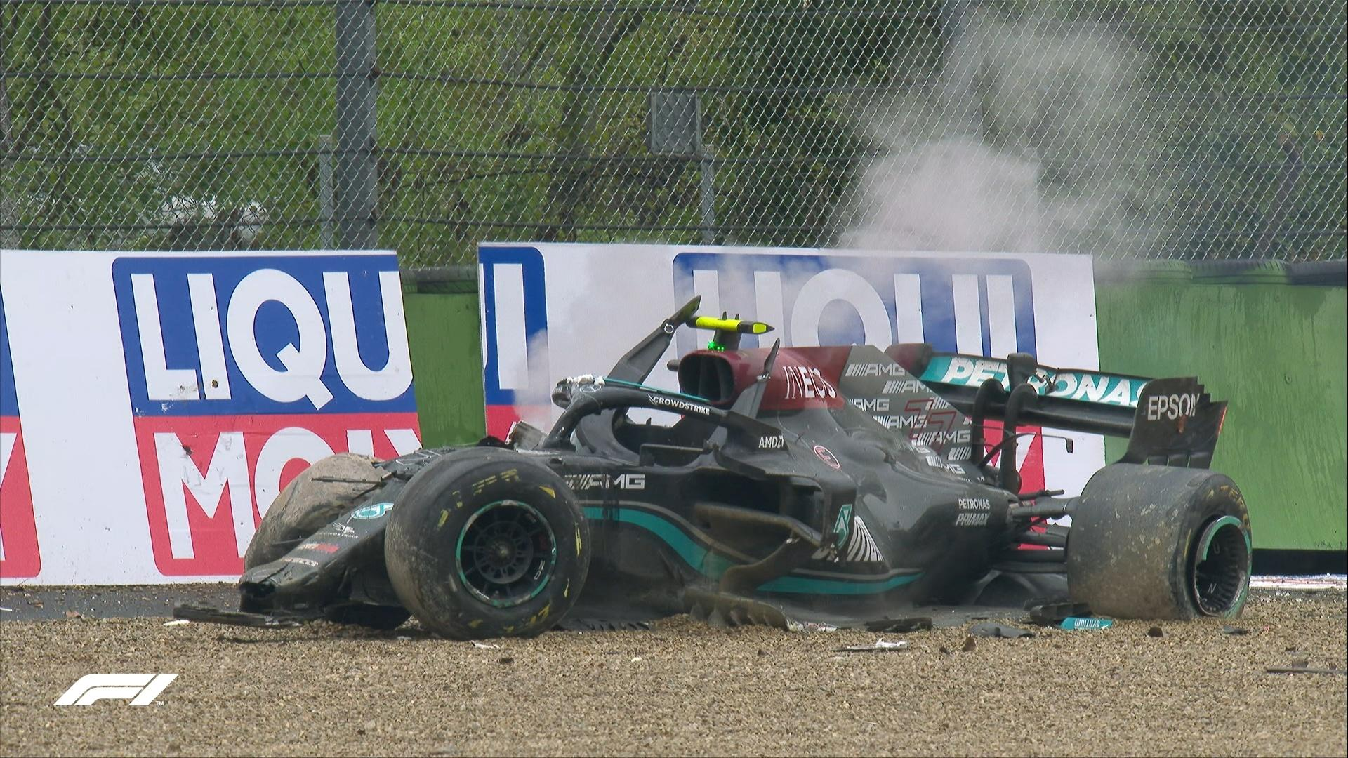 GP Emilia Romagna F1/Imola: O acidente de Valtteri Bottas/George Russell