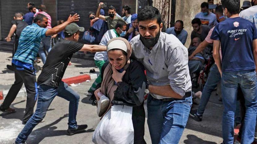 Médio Oriente: As ofensivas de segunda-feira elevaram para 58.000 o número de palestinianos deslocados