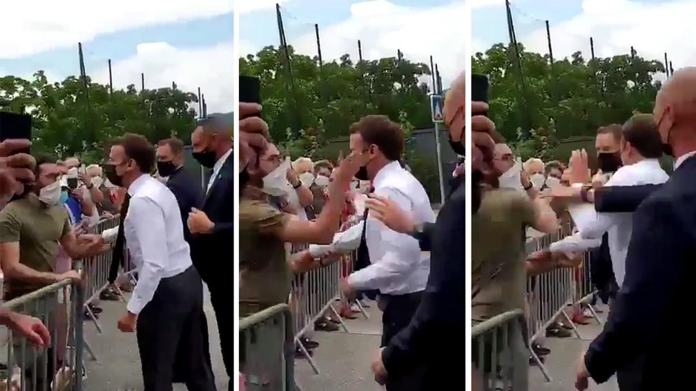 França: Presidente francês é agredido numa visita ao sudeste do país
