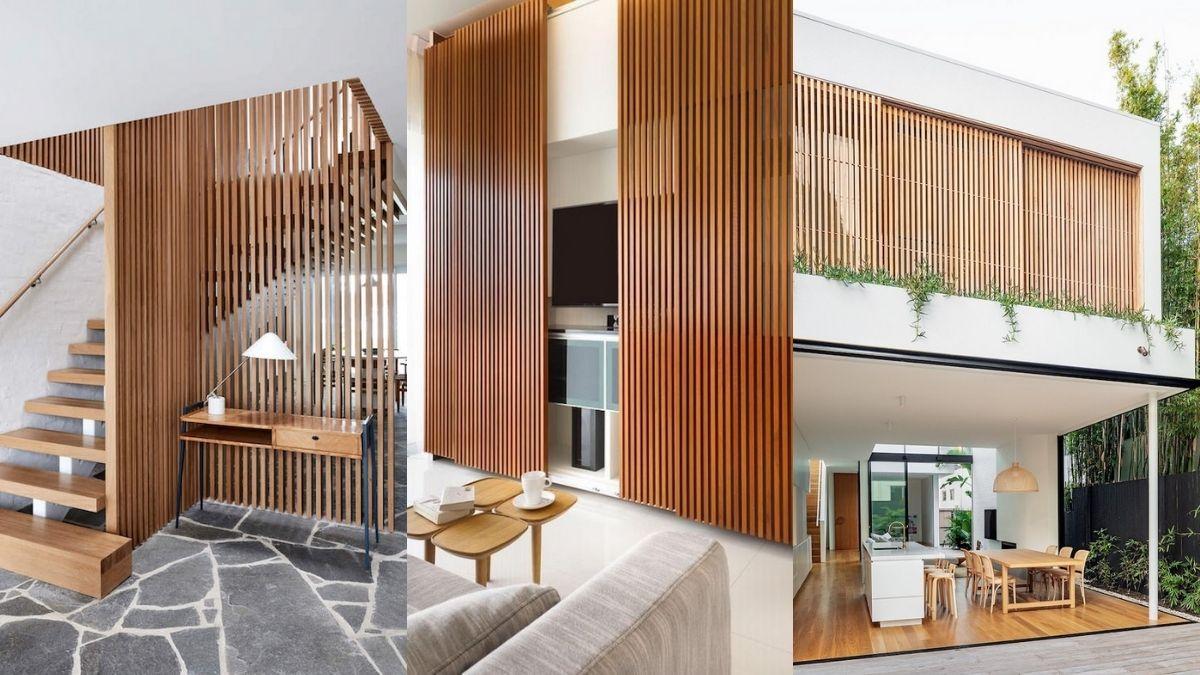 Decoração: Ripado de madeira ajuda a tornar a decoração mais diferenciada