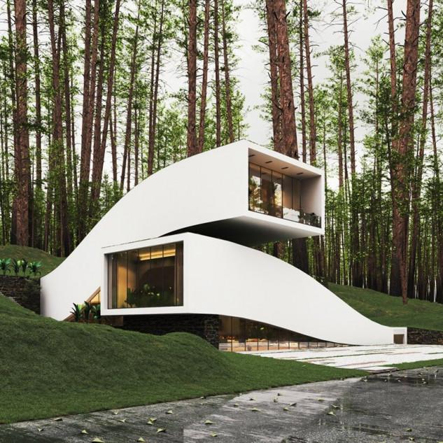 Casa de Sonho: Uma casa semi-subterrânea