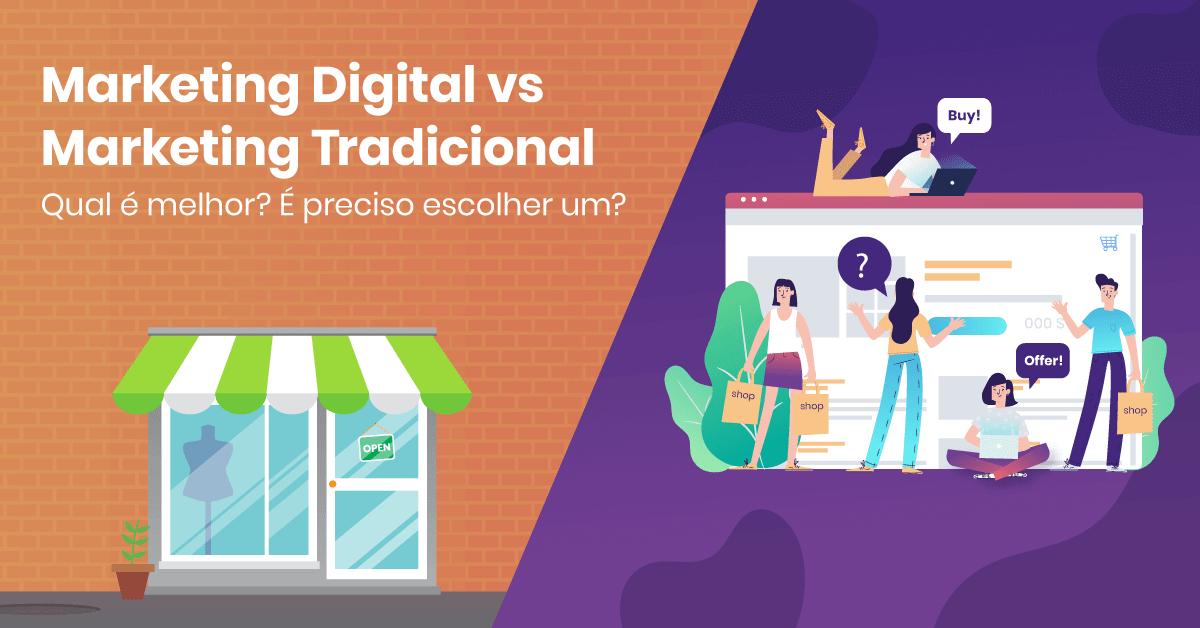 Análise De Marketing Com Lídia Coroa:  Marketing digital vs Marketing tradicional