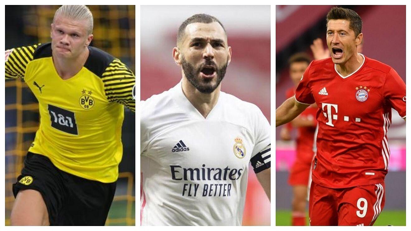 Futebol: Benzema está à frente de Haaland e Lewandowski