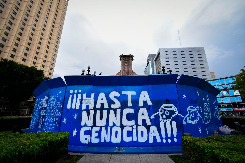 Uma estátua de Cristóvão Colombo na Cidade do México será substituída por uma de uma mulher indígena