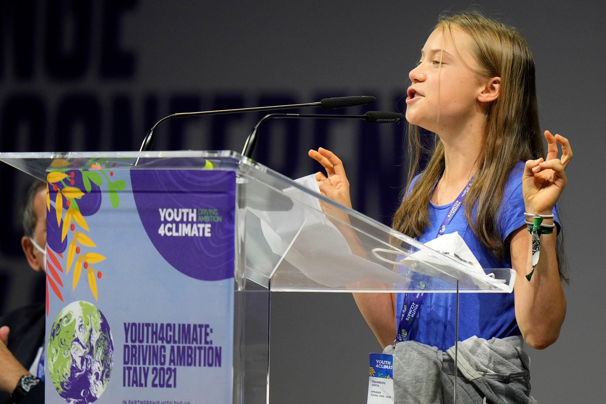Mundo: Greta Thunberg troça das palavras dos líderes mundiais em Youth4Climate